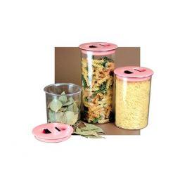 банка для продуктов 1,4 л, круглая, пластиковая