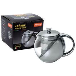 чайник зав. MALLONY Menta 500мл термостекло/нерж.сталь