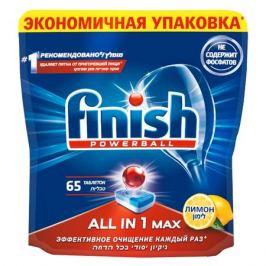 таблетки д/ПММ FINISH All in1 Max Лимон 65шт.