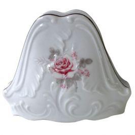 салфетница Рококо Бледная роза отводка платиной фарфор
