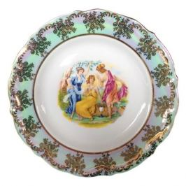 тарелка обеденная Мария Тереза Перламутровая мадонна-1, 25см, фарфор