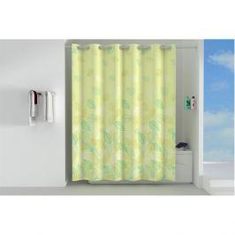 занавеска для ванной OFELIS Листья 200х180 см, полиэстер зеленая