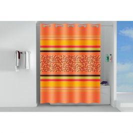 занавеска для ванной OFELIS Орнамент 200х180 см, полиэстер, оранжевая