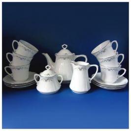 сервиз чайный CMIELOW Камелия Серый орнамент 6/15 фарфор