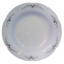 тарелка обеденная CMIELOW Камелия Серый орнамент, 24см, фарфор