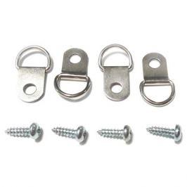 петля-подвес D-кольцо, никелированная, 4 шт