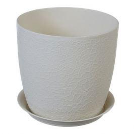 кашпо с поддоном ВЕРОНА, диаметр 14 cм, 1,4 л, белый