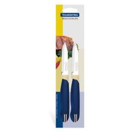 нож TRAMONTINA Multicolor 2шт. 7,5см д/овощей нерж.сталь/пластик