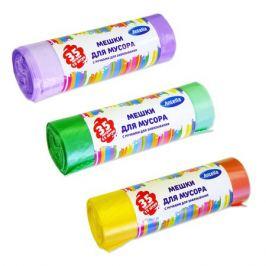 пакеты для мусора ANTELLA 35 л, 15 шт, 50х50 см, 16 мкм, с ручками, микс цветов