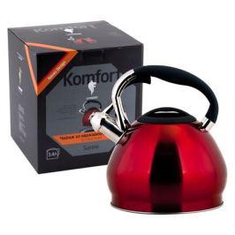 чайник LEONORD Sonne 3,4л со свистком нерж.сталь/бакелит/нейлон индукц.