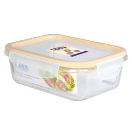контейнер для продуктов HITT, 0,63л 18х13х6 см, прямоугольный, стекло, пластик