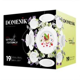 набор столовый DOMENIK Spring Romance 6/19 фарфор