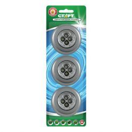 светильник ночник светодиодный СТАРТ 4х15Вт LED серебро 3 шт.