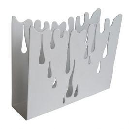 салфетница Капли 12х10х3 см металл белый