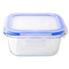 контейнер для продуктов MALLONY Cristallino, 0,31 л, 12,1х12,1х5,8 см, жаропрочное стекло, пластик
