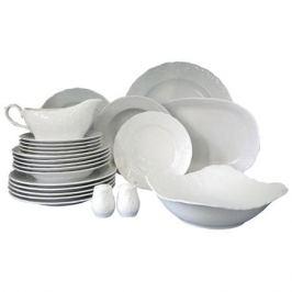 сервиз столовый Рококо 6/24 белый фарфор