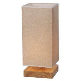 лампа настольная J-LIGHT Woody 1х40Вт E27 дерево/кремовый