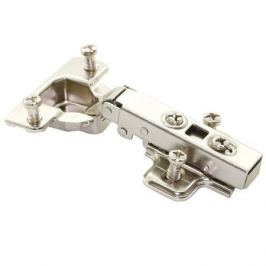 петля накладная clip-on, 110 градусов, с доводчиком, евровинтами