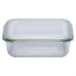 контейнер для продуктов ELEY, 1 л, 21х15х7 см, жаропрочное стекло, пластик, прямоугольный, с 4-мя замками