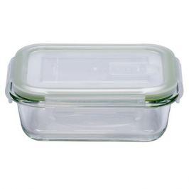 контейнер для продуктов ELEY, 0,370 л, 15х11х6 см, жаропрочное стекло, пластик, прямоугольный, с 4-мя замками