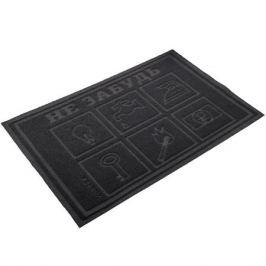 коврик VORTEX Comfort Не забудь, 40х60 см, серый полиэстер, ПВХ