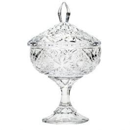 конфетница CRYSTALITE BOHEMIA Тукана-Миранда Нова 15х22 см, с крышкой, кристалайт