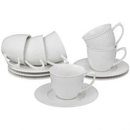 набор кофейный LEFARD Диаманд 6/12 90мл керамика