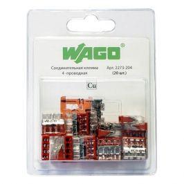 соединительная клемма WAGO, 4-х проводная, 0,5-2,5 кв.мм, без контактной пасты, 6 шт