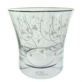 набор стаканов CRYSTALEX Грация панто золотые лепестки 6шт. 280мл низкие стекло