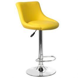 стул барный 450х500х810(1030) мм, желтый, металлический