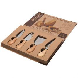 набор д/сыра REGENT Formaggio 4 предм.: 3 ножа д/сыра, сырная вилка дерево/нерж.сталь