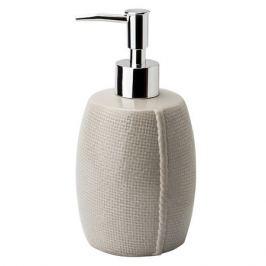 дозатор для жидкого мыла ATMOSPHERE Рогожка керамика серый
