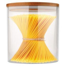 банка для продуктов MALLONY Bambu 0,45 л, круглая, стеклянная