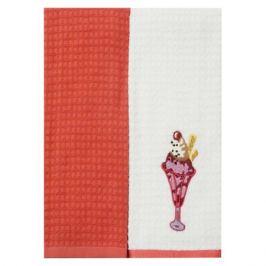 комплект полотенец кухонных TAC махр. с вышивкой Мороженое 40х60см 2шт бел./розовый, арт.5010-42075