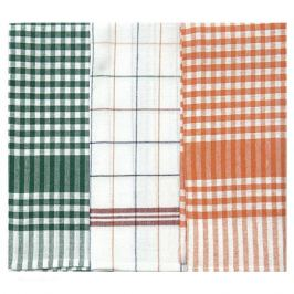 комплект полотенец кухонных CASABEL 50х70см 3шт зеленый/оранжевый, арт.5015-37833