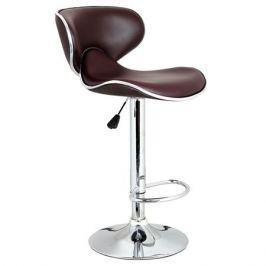 стул барный 460х505х850(1070) мм, бордовый, металлический