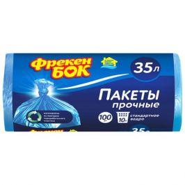 пакеты для мусора ФРЕКЕН БОК 35л, 100 шт, 50х60 см, 6,5 мкм, синие