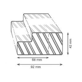 коробка дверная JELD-WEN N601 М9, прозрачный лак, петли, уплотнитель
