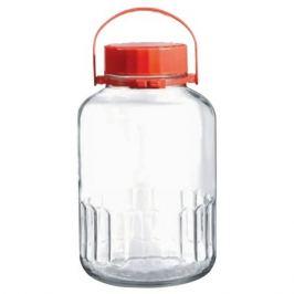 банка для продуктов PASABAHCE Harvest 3 л,, круглая, стеклянная, с пластиковой крышкой