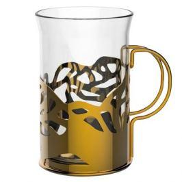 набор стаканов APOLLO Genio Cite Gold, 2 шт, 250 мл, стекло, нержавеющая сталь