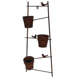 подставка для цветов Лестница на 3 горшка металл 29,5х13х69см