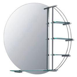 зеркало для ванной Шар D 77 см 4 полки
