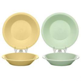 тарелка 18,5см круглая глубокая пластик