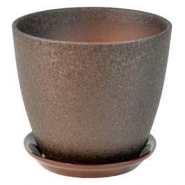 горшок керамический Бутон Винил, диаметр 21 см, 5,4 л, шоколад