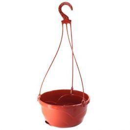 горшок подвесной Мальва, диаметр 25 см, высота 13 см, 4,7 л, терракотовый, пластик