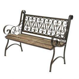 скамейка 59х115х91см металл/дерево коричневый