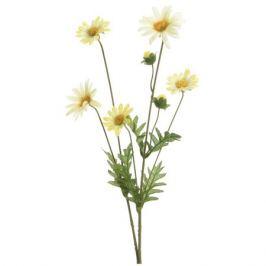 растение искусственное Маргаритка 19х65 см, белый/желтый