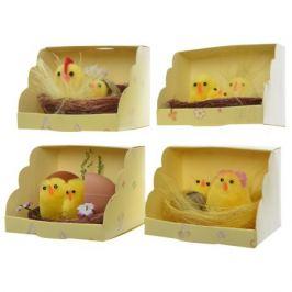фигура декоративная Цыплята в гнезде 6см в асс-те
