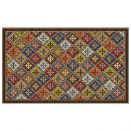 коврик для порога Восточные мотивы, 46х76 см, полиэстр на резиновой основе, с печатным рисунком