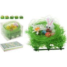 фигура декоративная Цыплята/Заяц в гнезде 8,5см в асс-те